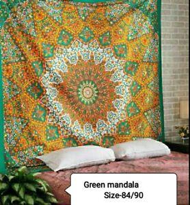 Mandala Indian Mandala Tapestry Wall Hanging Bohemian Bedspread Throw Dorm Decor