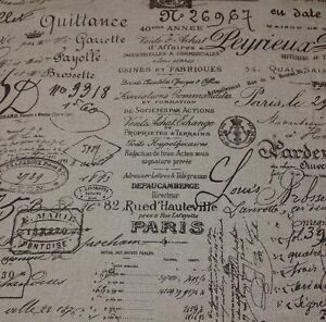 excellent french script fabric by the yard. Image is loading BALLARD DESIGNS DOCUMENT BROWN FRENCH SCRIPT DESIGNER  FABRIC BY