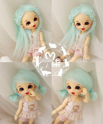 "4-4.5/"" 12cm BJD doll fabric fur wig Brown bjd hair for 1//12 bjd dolls"