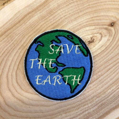 Save The Earth Nature Animals Embroidered Iron On or Sew On Patch DIY