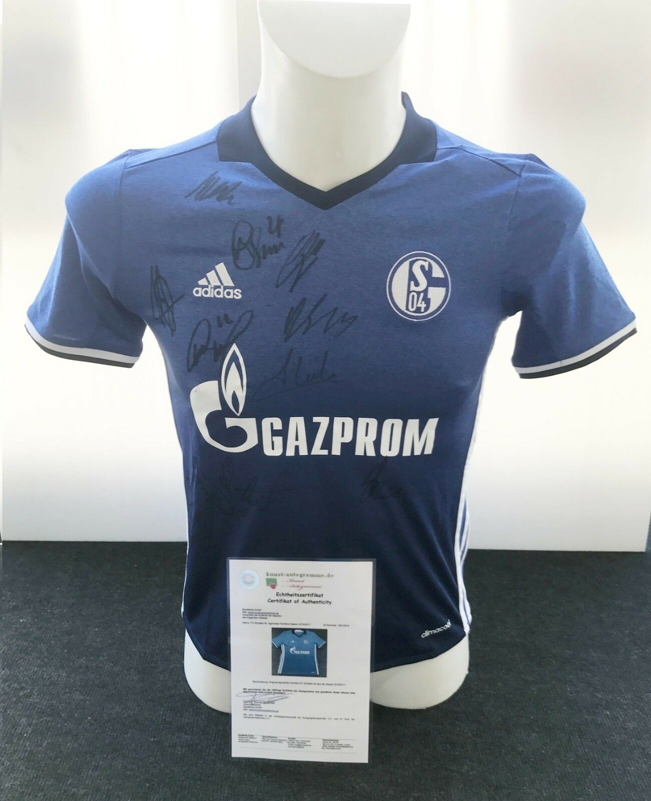 FC Schalke 04 Trikot 2016 2017, Teamsigniert, S04, gr. 152
