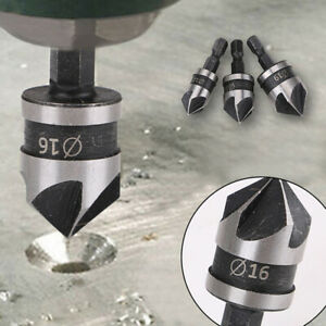 3Pcs Steel 90 Degree Hex Shank For Wood Metal Cutting Hole Saw Drill Bit Tools
