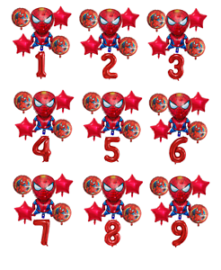 Spiderman-Balloon-Kit-Spider-man-30-039-039-Age-Number-Happy-Birthday-6-Party-Balloons