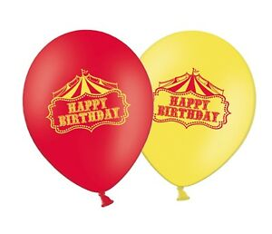 Happy-Birthday-Circus-12-034-Latex-Red-amp-Yellow-Assorted-Balloons-Pack-of-25