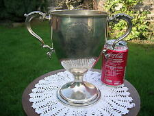 English Hallmarked Georgian Solid Silver Presentation Cup/Trophy c1777 C Wright
