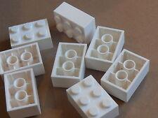 Lego 8 briques blanches  set 1626 41085 4408 70912  / 8 white bricks