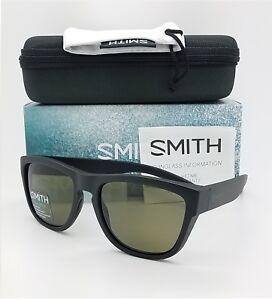 NEW-Smith-Clark-Sunglasses-Matte-Black-ChromaPop-Polarized-Grey-Green-169