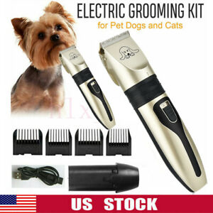 Electric-Animal-Mascota-Perro-Gato-Hair-Trimmer-Shaver-Afeitadora-Clipper-Grooming-Silencioso-EE-UU