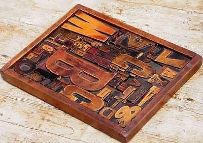 MüHsam Collage Holzbuchstaben Unikat Bild Holzlettern Letternbild Wandbild Vintage Rar