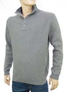 HARRIS WILSON pull col montant boutons homme gris chiné