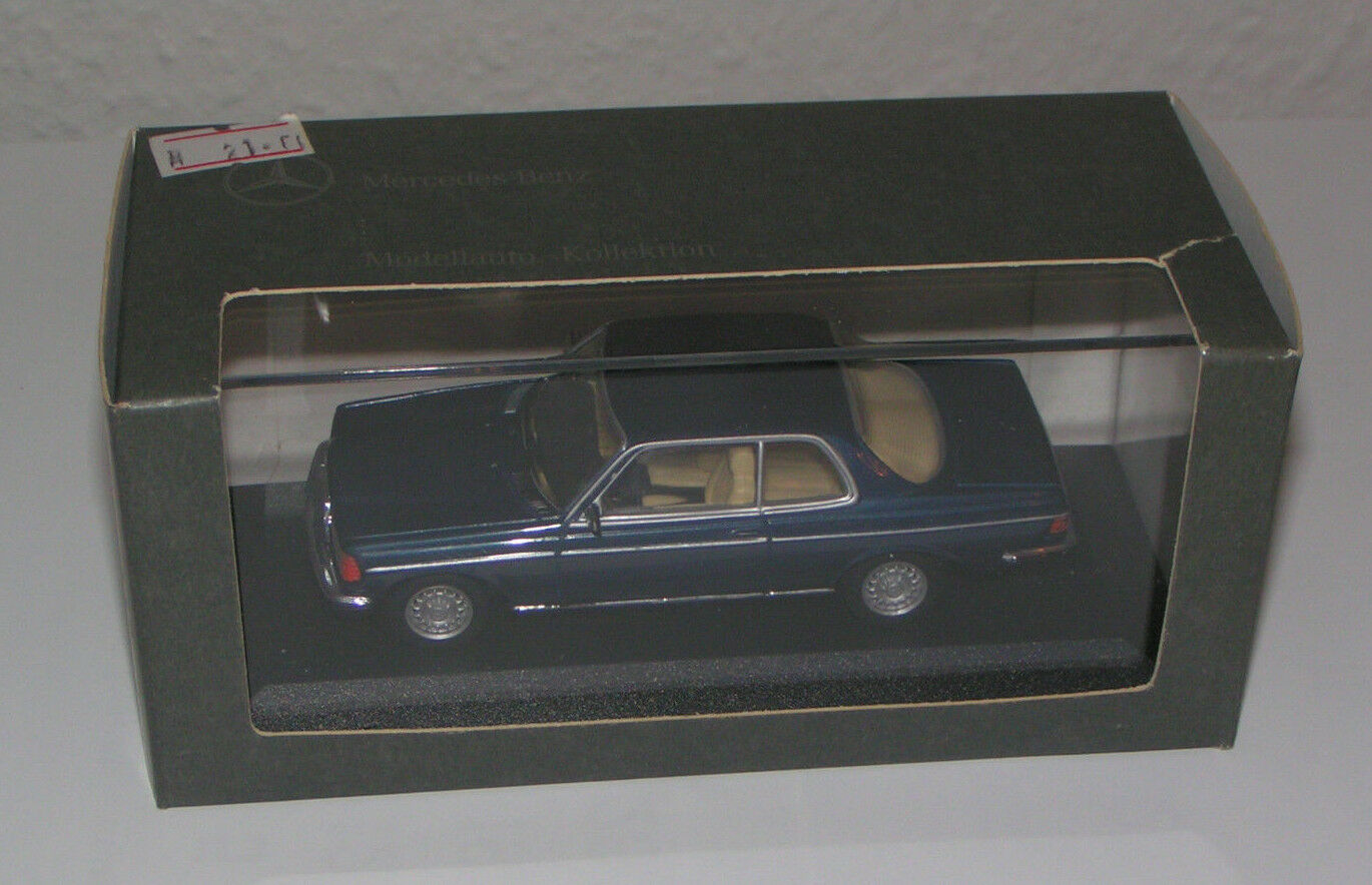 MERCEDES-BENZ W 123 COUPE 280 CE Blu Scuro/Blue Metallico-Minichamps 1:43!