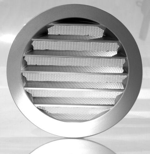 Aluminium Wetterschutzgitter Lüftung Rund Insektenschutz 80 100 125 150 160 mm