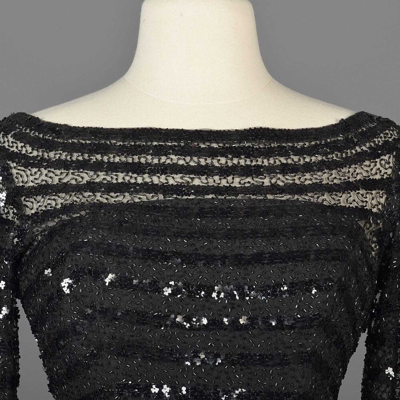 XXS Vintage 1960s 60s Ceil Chapman Long Sleeve Se… - image 7
