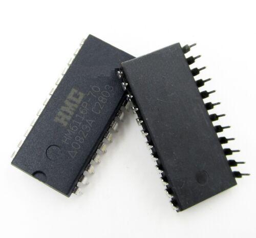 2pcs HM6116P-70 HM6116P HMC DIP24 General Purpose Static RAM NEW