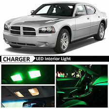 10x Green LED Interior Lights Package Kit for 2006-2010 Dodge Charger