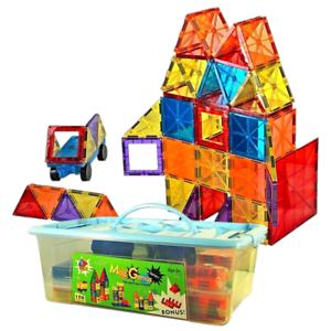 Magnet-Tiles-Mag-Genius-Magna-Award-Winning-Building-Magnetic-toy-108-pc-Bin