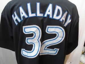 competitive price f589f f95d7 Details about Vtg Toronto Blue Jays Hall Of Fame Roy Halladay #32  Embroidered Majestic Jersey