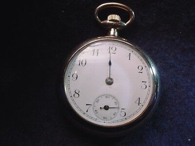 Antique Painstaking New England Watch Co O Size Gold Filled Pocket Watch! #811