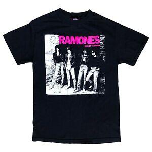 70s 80s New York Punk Rock Ramones Rocket To Russia Mens Black T Shirt Size S