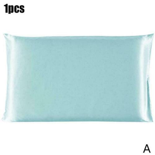 1X Smooth Silk Satin Room Bedding Pillow Case Multiple PillowCase Colors X3S8