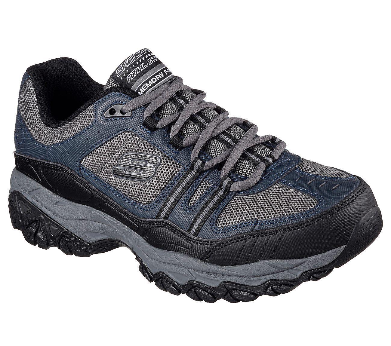 Skechers Navy EWW 4E Wide Width shoes Men Memory Foam Sporty Train Comfort 50124