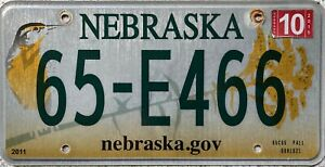 GENUINE-American-Nebraska-Bird-Graphic-USA-License-Licence-Number-Plate-65-E466