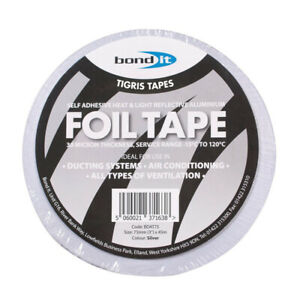 72mm-x-45m-Bond-It-Aluminium-Foil-Tape-Trade-Pack-Box-of-16-Rolls