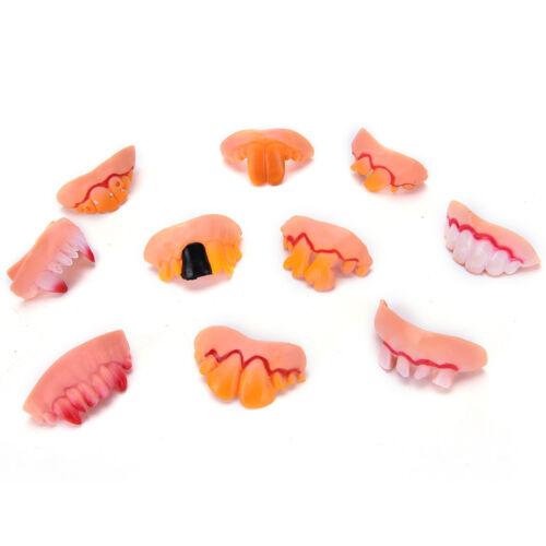 Halloween Funny Joke Teeth Fun Brace Face Gag Costume Nerd For Kids and Teen .