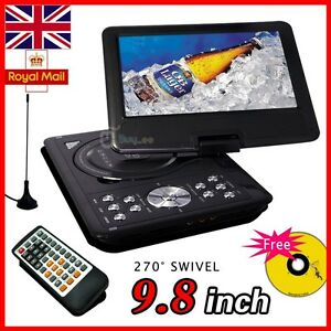 Buyee-New-9-8-Portable-DVD-Player-Game-USB-DIVX-SD-Swivel-Flip-IN-Car-Remote
