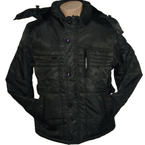 warme herren winter jacke anthrazit winterjacke parka gr m xxxl 3xl jk022 an ebay. Black Bedroom Furniture Sets. Home Design Ideas