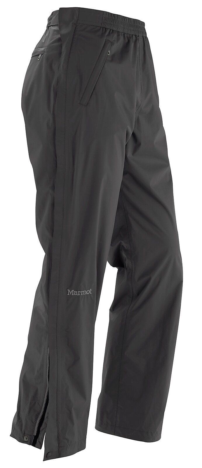 Marmot Precip Fullzip Pant  schwarz  leichte Regenhose für Herren  | Mittel Preis