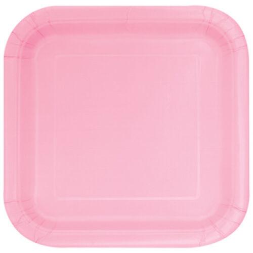 """Placas de papel cuadrado Lovely Pink 9/"""" Pack de 14 Bautizo//Baby Shower"""
