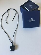 SWAROVSKI Black Crystal Pendent Necklace NIB