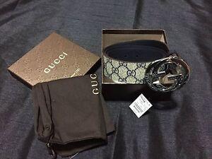 2bf2f0ea3e6561 La foto se está cargando Nuevo-Con-Etiquetas-Autentico-Gucci -Para-Hombre-Beige-