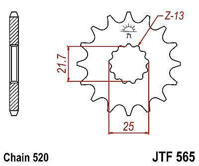 JT Heavy Duty Sprocket JTF565 16t fits Suzuki GS500 E-K,L,M,N,P 88-93