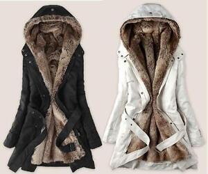 Women Winter Coat with Faux Fur Ling 2 in 1 Hood Fur Parka ...
