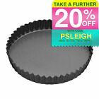 MasterCraft 25cm Non-stick Bakeware Pan Quiche Flan Pie Tart W Removable Base