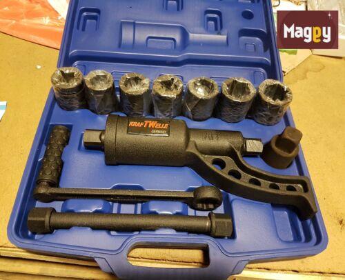 demultiplicateur de force 3/4 douille de 24 a 38 marque kraftwelle outils 11 pcs