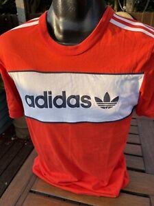 Vintage Adidas Originals T-Shirts Manchester United Home Size Medium Retro
