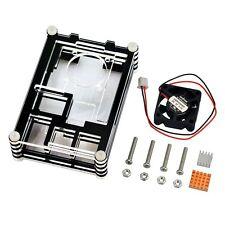 Full Kit Plastic Case+ Mini Fan+ Heated Sinks for Raspberry Pi 2 3  Board