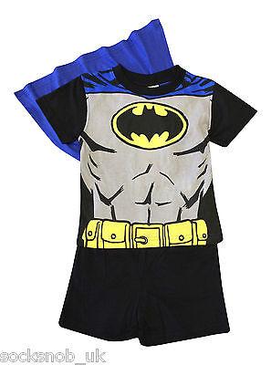 Ragazzi Novità Batman Pyjama Shorties Con Capo Tutte Le Età (nero)-mostra Il Titolo Originale Elegante Nello Stile