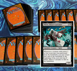 mtg-BLACK-SHIREI-COMMANDER-EDH-DECK-Magic-the-Gathering-isareth-bontu-rare-cards