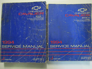 1994-Chevy-Chevrolet-Cavalier-Service-Shop-Repair-Manual-Set-OEM-FACTORY