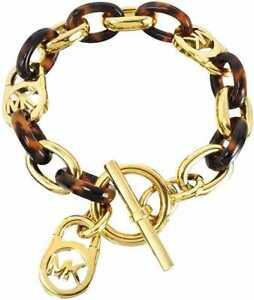 Image Is Loading Michael Kors Bracelet Mkj1675710 Heritage Link Tortoise Toggle