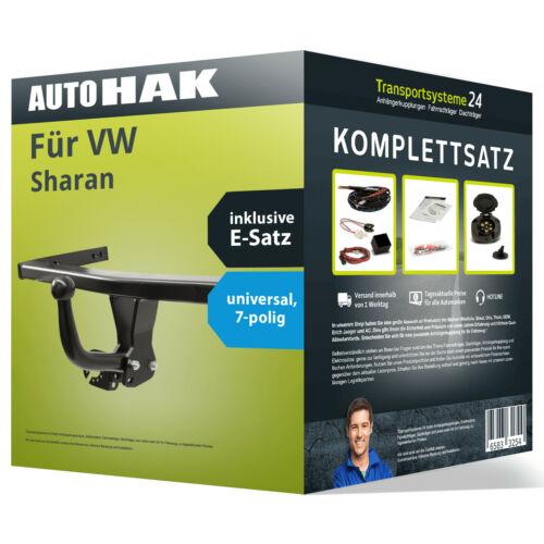 Anhängerkupplung starr für VW Sharan Elektrosatz AHK NEU ABE
