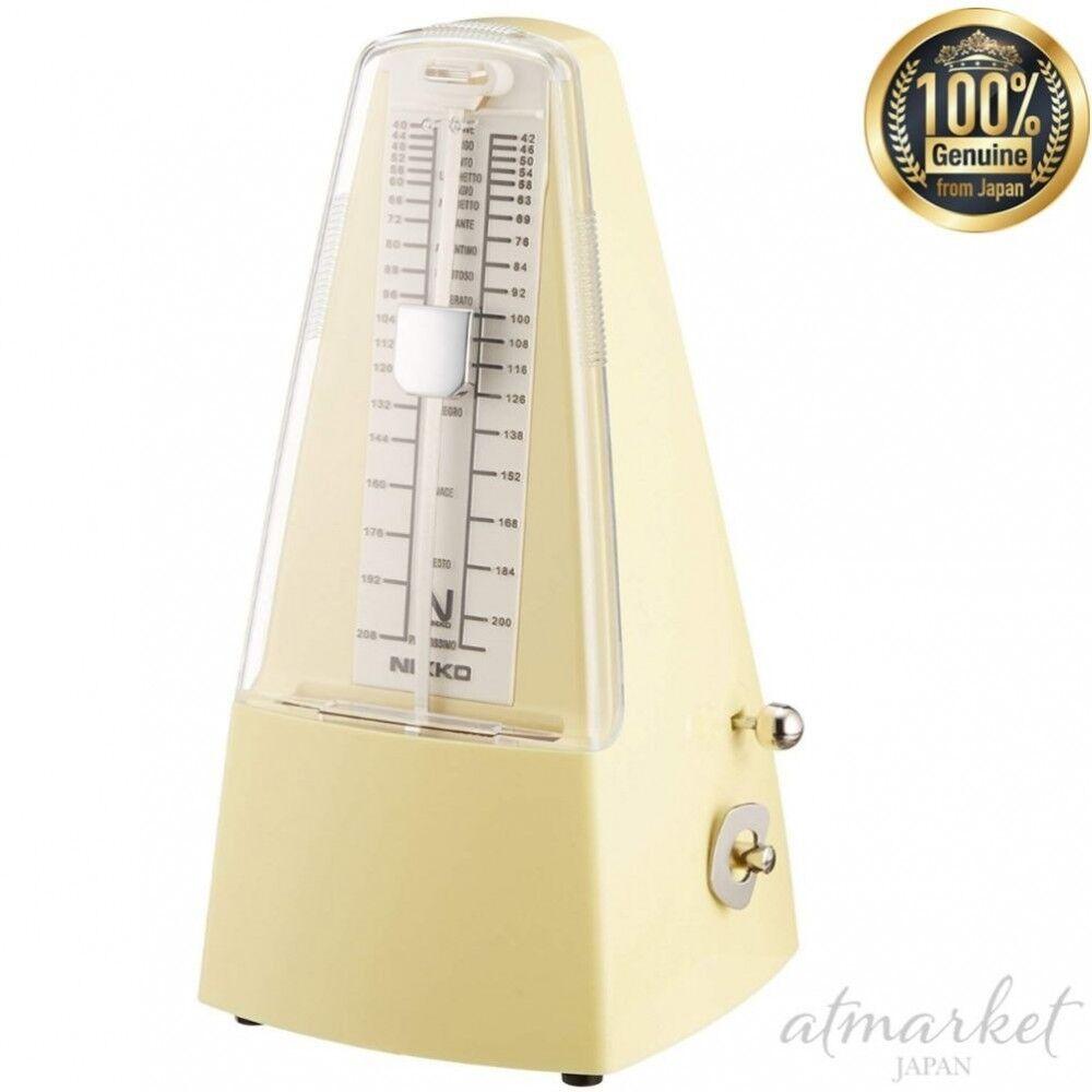 Nuevo estándar Nikko Metrónomo Perla Amarillo 236 genuino genuino genuino de Japón  a precios asequibles