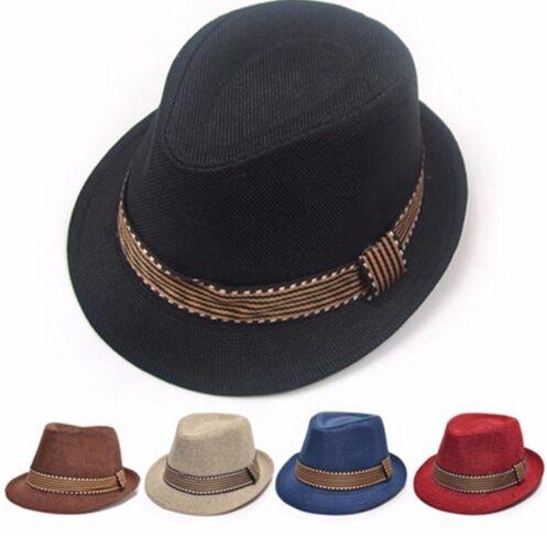 52cm Children Kids Boys Girls Jazz Felt Hat Unisex Caps Sunhat Gift #M2R