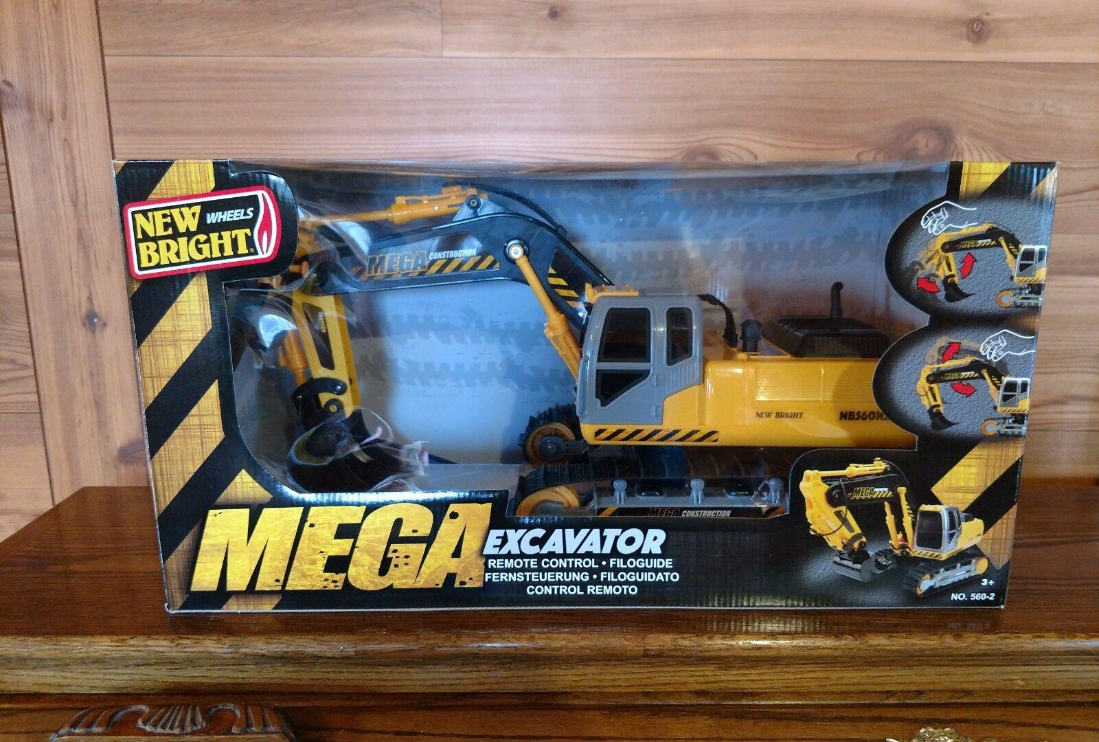 NEW BRIGHT NO.560-2 REMOTE CONTROL MEGA-EXCAVATOR - NEW IN ORIGINAL BOX
