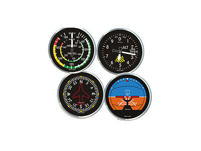 Trintec Classic Aviation Instrument Drink Coasters - Set of 4