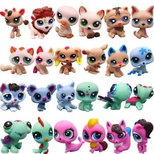 24pcs/Set Littlest Pet Shop Big Eyes Hasbro LPS Animal Kids Toys Cute Xmas Gifts